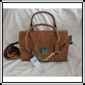 NWT! BCBGeneration Dijon Handbag with Gold Accents
